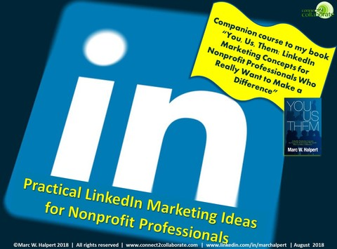 LinkedIn for Nonprofit Professionals e-course: Practical LinkedIn Marketing Ideas for Nonprofit Professionals